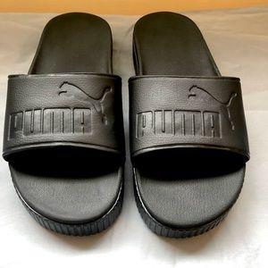 Puma Platform Slide Sandals Black Size 9